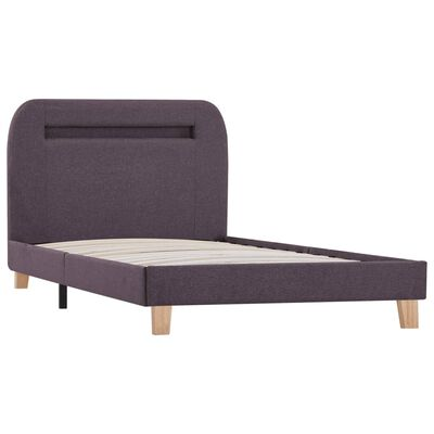 vidaXL Bed Frame with LED Taupe Fabric 90x190 cm