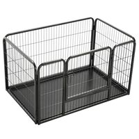 vidaXL Puppy Playpen Steel 125x80x70 cm