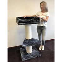 Rhrquality Cat Tree Maine Coon Lounge Anthracite For Large Cats