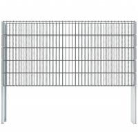 vidaXL 2D Gabion Fence Galvanised Steel 2.008x1.03 m 4 m (Total Length) Grey