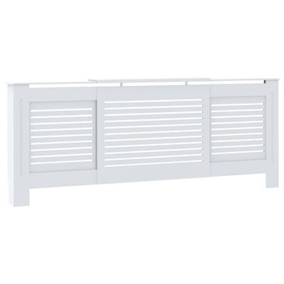 vidaXL MDF Radiator Cover White 205 cm, White