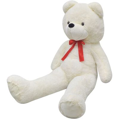 vidaXL XXL Soft Plush Teddy Bear Toy White 160 cm
