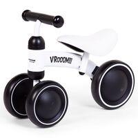 CHILDHOME Toddler Balance Bike Vroom Metal White
