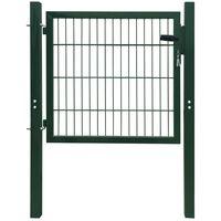 vidaXL Fence Gate Steel Green 103x150 cm