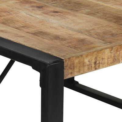 vidaXL Dining Table 140x140x75 cm Rough Mango Wood