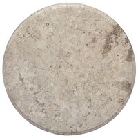 vidaXL Table Top Grey Ø50x2.5 cm Marble