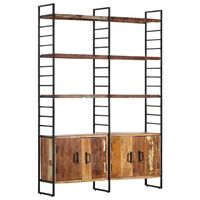 vidaXL 4-Tier Bookcase 124x30x180 cm Solid Reclaimed Wood