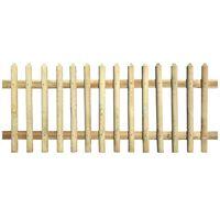 vidaXL Picket Fence Impregnated Pinewood 170x120 cm 5/7cm
