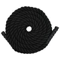 vidaXL Battle Rope 15 m Polyester Black