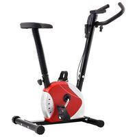 vidaXL Exercise Bike with Belt Resistance Red