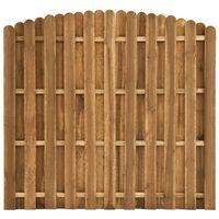vidaXL Hit and Miss Fence Panel Pinewood 180x(155-170) cm