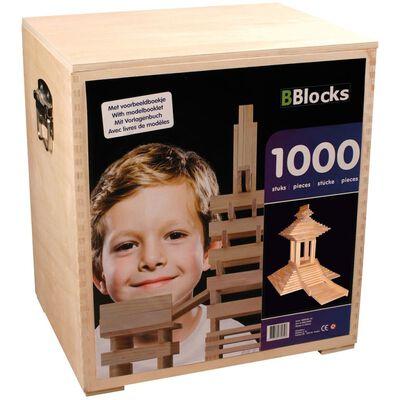 BBlocks Building Planks 1000 pcs Brown Wood BBLO890202