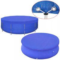vidaXL Pool Cover PE Round 540 cm 90 g/m²