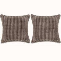 132899 vidaXL Cushion Set 2 pcs Velour 60x60 cm Brown