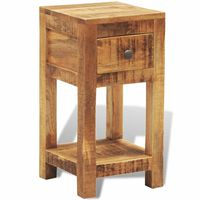 vidaXL Nightstand with 1 Drawer Solid Mango Wood