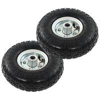 vidaXL Sack Truck Wheels 2 pcs Rubber 4.10/3.50-4 (260x83)