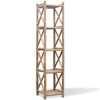 5-Tier Square Bamboo Shelf