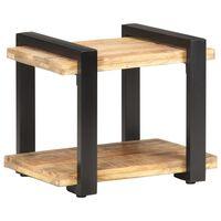 vidaXL Bedside Cabinet 50x40x40 cm Rough Mango Wood