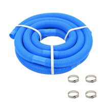 vidaXL Pool Hose with Clamps Blue 38 mm 6 m