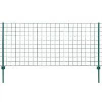 vidaXL Euro Fence Steel 20x1 m Green