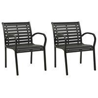 vidaXL Garden Chairs 2 pcs Grey Wood