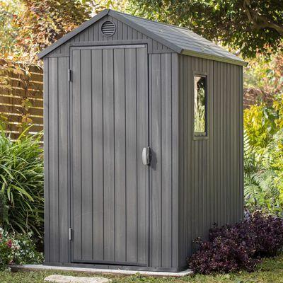 Keter Garden Shed Darwin 4x6 Grey Woodlook