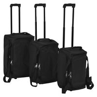 vidaXL 3 Piece Luggage Set Black