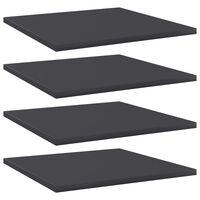 vidaXL Bookshelf Boards 4 pcs Grey 40x40x1.5 cm Chipboard