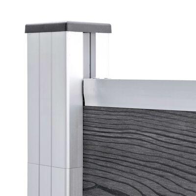 vidaXL Fence Panel WPC 95x186 cm Grey