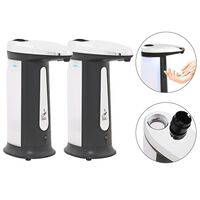 vidaXL Automatic Soap Dispensers 2 pcs Infrared Sensor 800 ml Chime