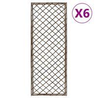 vidaXL Garden Trellises 6 pcs 30x120 cm Willow