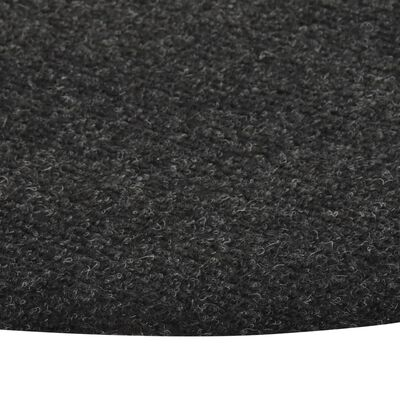 vidaXL Artificial Grass with Studs Dia.130 cm Anthracite Round