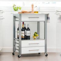 Excellent Houseware Kitchen Trolley MDF White
