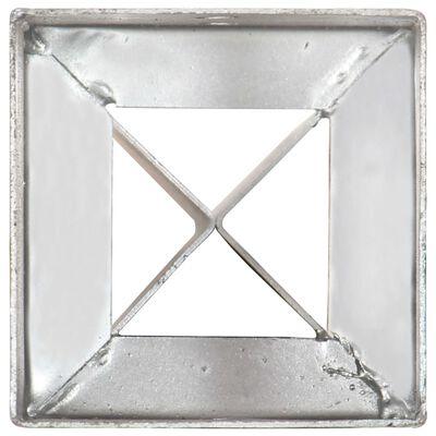 vidaXL Ground Spikes 6 pcs Silver 12x12x89 cm Galvanised Steel,