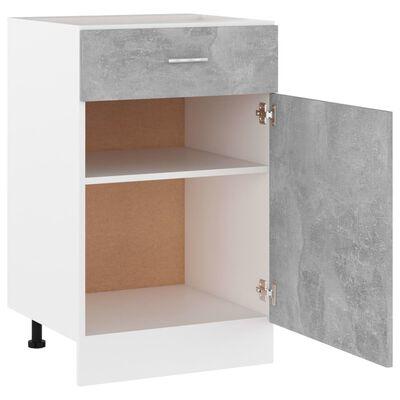 vidaXL Drawer Bottom Cabinet Concrete Grey 50x46x81.5 cm Chipboard