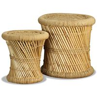 vidaXL Stools 2 pcs Bamboo and Jute
