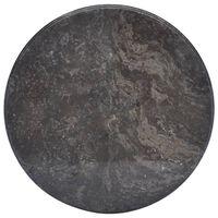 vidaXL Table Top Black Ø50x2.5 cm Marble
