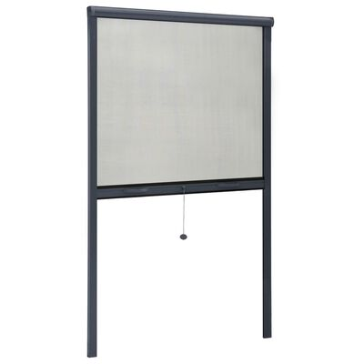 vidaXL Roll down Insect Screen for Windows Anthracite 100x170 cm