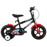 vidaXL Kids Bike 12 inch Black and Red