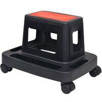 vidaXL Rolling Workshop Stool with Storage 150 kg