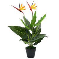 vidaXL Artificial Strelitzia Reginae Plant Bird of Paradise 66 cm
