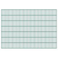 vidaXL 2D Garden Fence Panels 2.008x1.43 m 32 m (Total Length) Green
