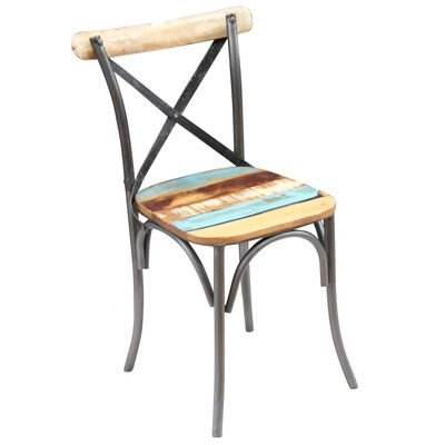 vidaXL Dining Chairs 4 pcs Solid Reclaimed Wood