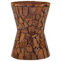 vidaXL Mosaic Stool Brown Solid Teak Wood