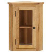 vidaXL Wall-mounted Corner Cabinet 45x28x60 cm Solid Oak Wood