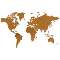 MiMi Innovations Wooden World Map Wall Decoration Luxury Brown 180x108 cm
