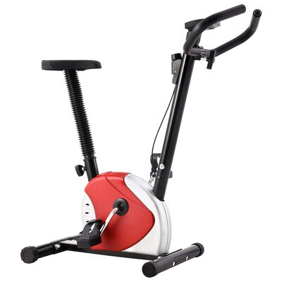 vidaXL Exercise Bike with Belt Resistance Red, Red