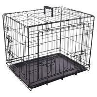 FLAMINGO Wire Cage with Sliding Door Nyo S 62x45x49.5 cm Black