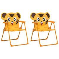 vidaXL Kids' Garden Chairs 2 pcs Yellow Fabric