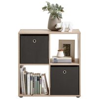 FMD Standing Shelf with 4 Compartments Oak Tree